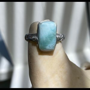 Sterling and Larimar ring from Punta Cana
